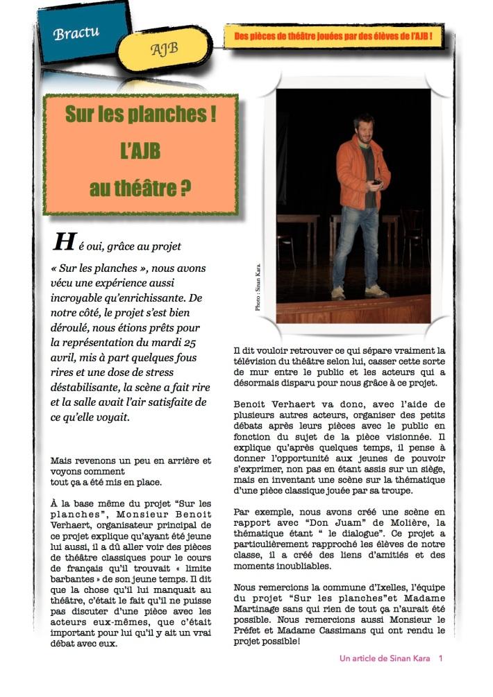 Article BRACTU THÉÂTRE -